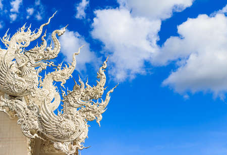 art roof Wat Rong Khun in Chiangrai,north of Thailand photo