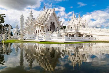 temple of heaven: Wat Rong Khun,Chiang Rai, north of Thailand