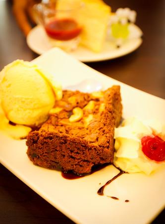 tasty ice-cream in luxury cafe photo