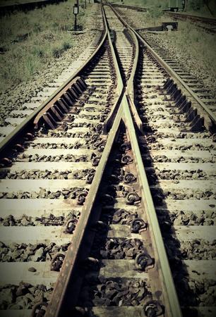 style: Vintage style railway Stock Photo