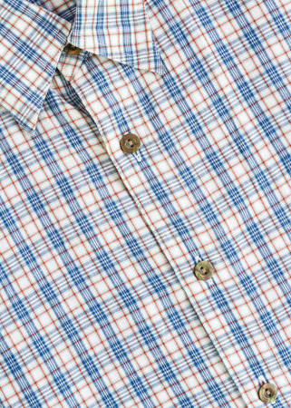 checked: checked pattern style blue shirt Stock Photo