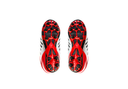 football boots: football boots on isolated background Stock Photo