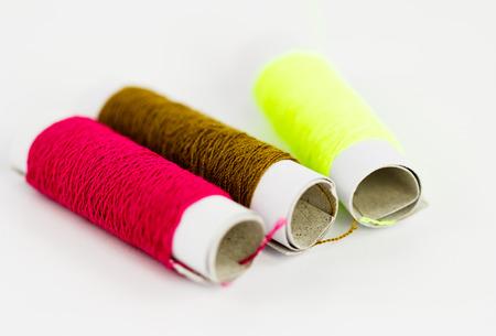 cotton thread: cotton thread on white background