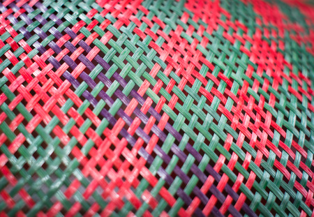 weaving: color texture weaving from  bamboo Stock Photo