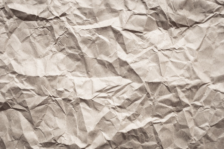クローズ アップしわのある茶色の紙テクスチャ