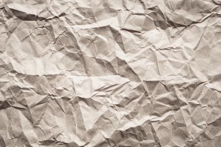 근접 촬영 갈색 구겨진 된 종이 텍스처