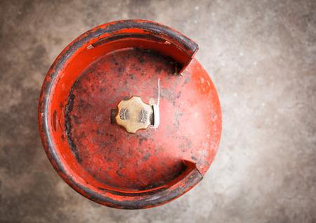 butane: gas tank on the floor