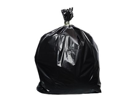 trash bag isolated on white background