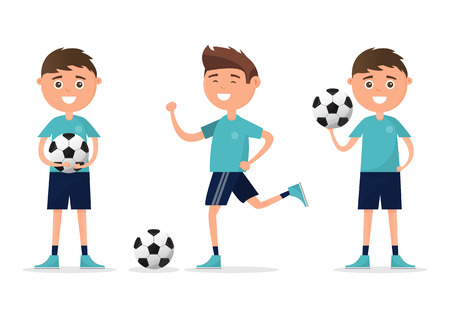 students in different character playing football isolated on white background. back to school, education concept. vector illustration cartoon character