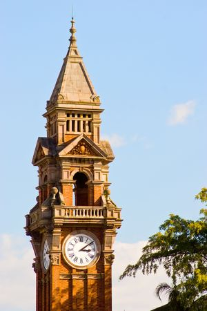 The tower and clock of the old Town Hall, Brisbane, Australia