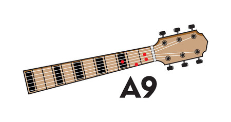Guitar chord collection vector illustration on white background.