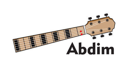 Guitar chord collection illustration on white background.