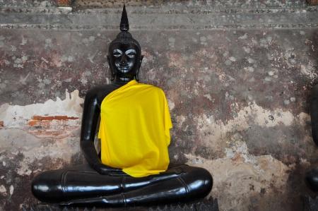 Schwarz Buddha Standard-Bild