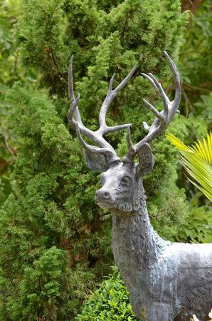 sculpt: Sculpture Deer Stock Photo