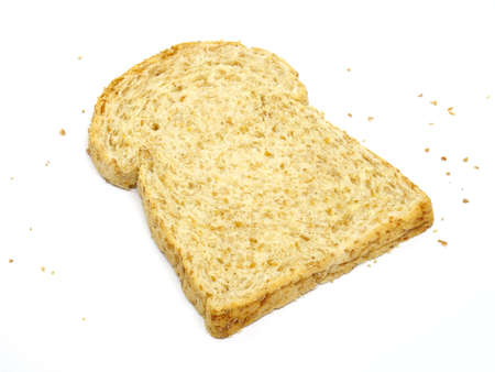 Fresh bread isolated on white background, Bread slices top view