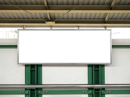 Blank banner display,poster mock up template