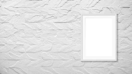 Blank frames mockup on brick wall