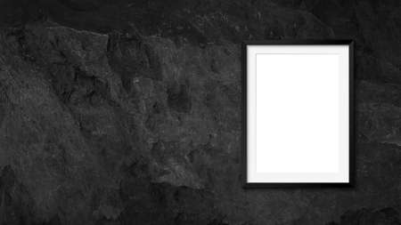 Blank frames mockup on stone wall