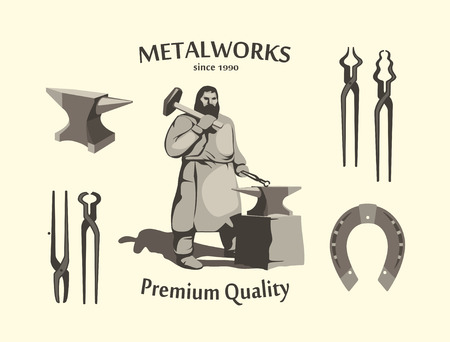 metalwork: Vintage Blacksmith Set