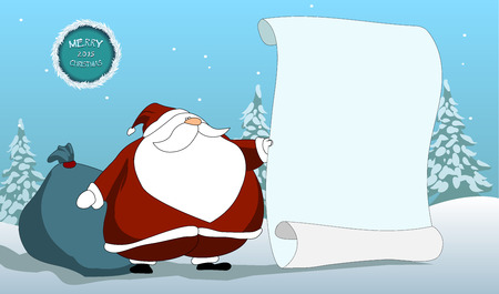 wishlist: Santa claus holding wishlist bust.