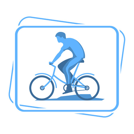 cycle suit: Bicyclists silhouette icon