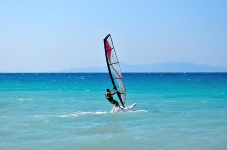 kiter: Windsurfing Stock Photo