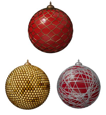Christmas balls with ribbon Фото со стока