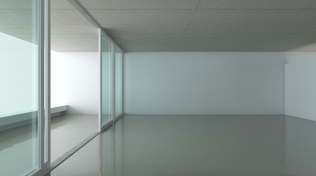 contemporary interior: blank interior