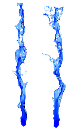 taking the plunge: Water Twirl splash Stock Photo