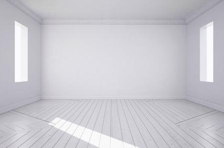 rendering: 3d rendering. White room. Stock Photo