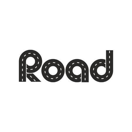 Logistic road logo