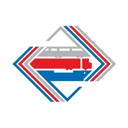 Logistic logo Ilustração