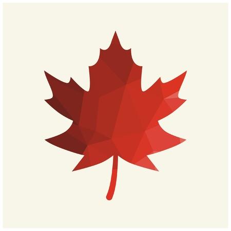 Vector red autumn leaf 向量圖像