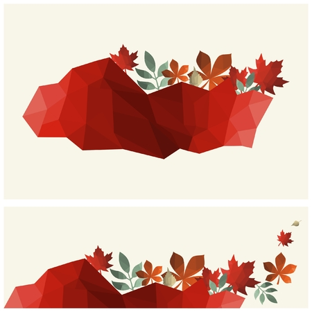 Vector autumn leaves background Ilustração
