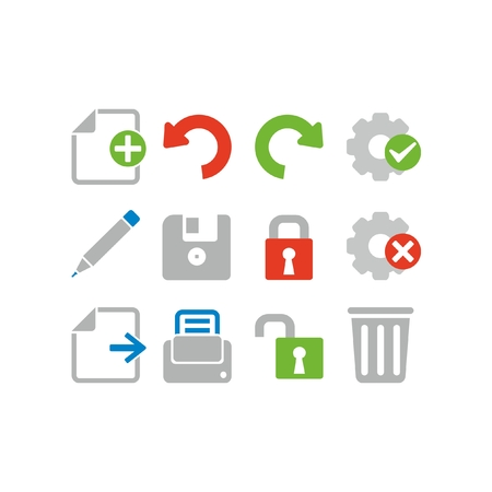 Set of document icons Çizim
