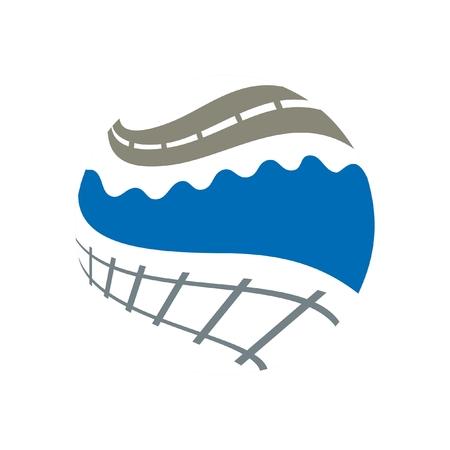 Logistic logo Illustration