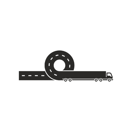 Black logistic logo Иллюстрация