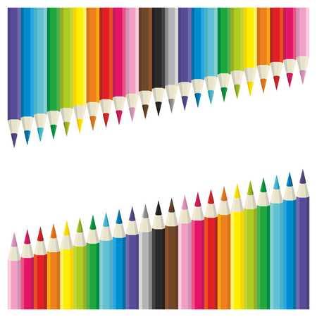 Color pencil frame