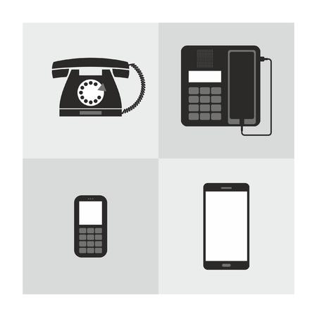 Set of different phones