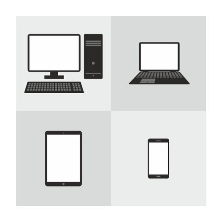 Set of smart devices Illustration