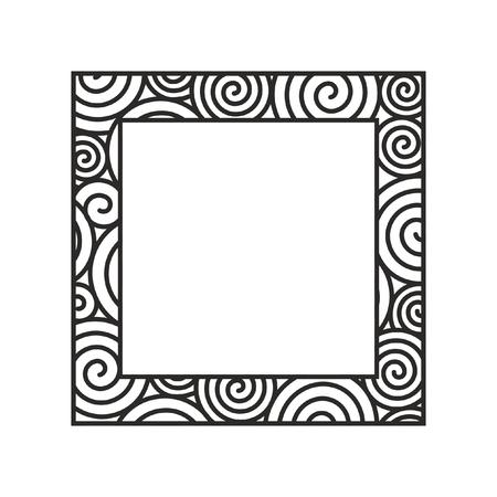 Monochrome vector spiral frame