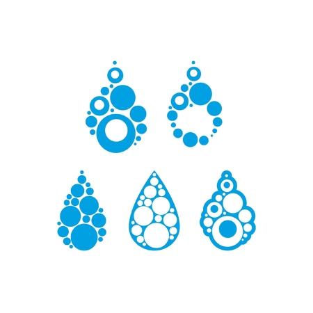 Blue water drop logos Reklamní fotografie - 109502668