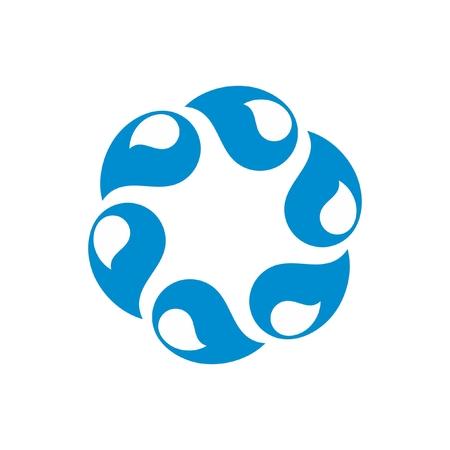 Vector blue Water logo