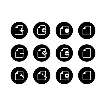 Set of document icons in circle Standard-Bild - 130262273