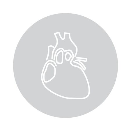 Vector heart icon in circle