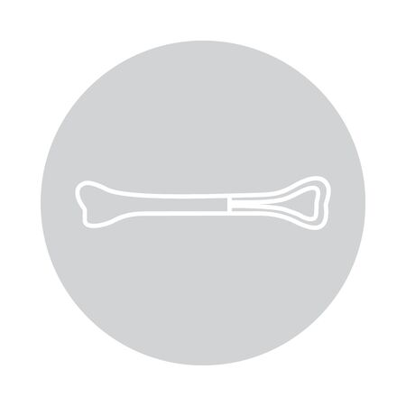 Vector bone icon in circle