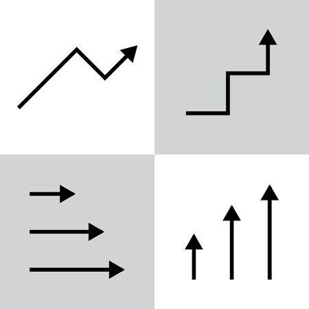Set of black vector arrows Illusztráció