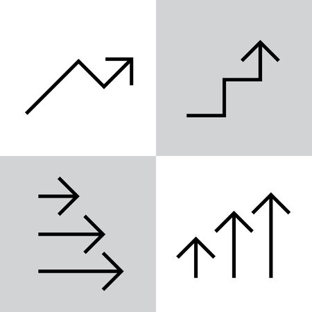 Set of black vector arrows  イラスト・ベクター素材