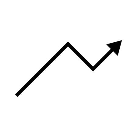 Black vector up arrow icon