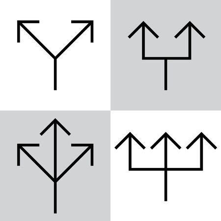 Set of black vector arrows Standard-Bild - 130330499